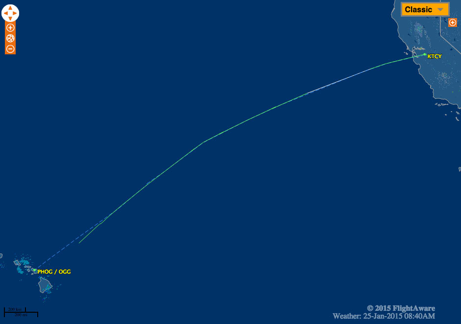 Map Of California And Hawaii.Pilot Successfully Ditches Cirrus Sr 22 Hundreds Of Miles Off
