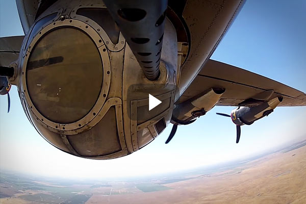 Take a GoPro put it on the end of a B24 Liberators 50 caliber ball turret and take the old bird for a spin The result is something like this incredible