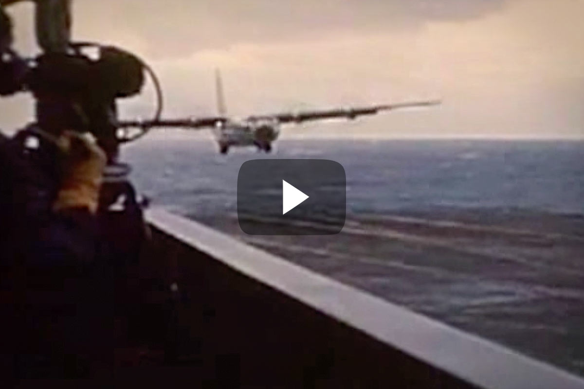 C 17 On Aircraft Carrier Watch A C-130 Land On ...