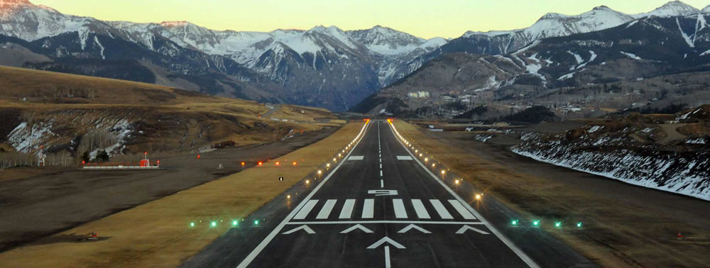 Telluride Airport High In The Rocky Mountains With Steep Cliffs And