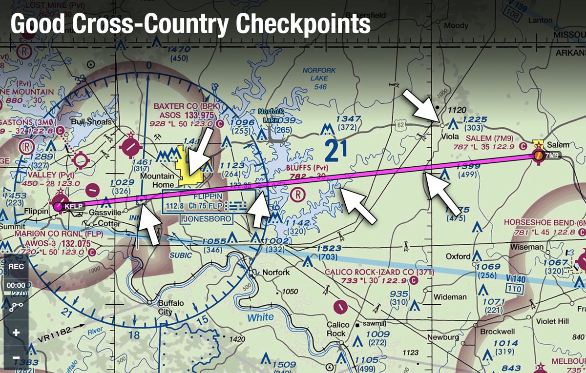 6e001544087 How To Pick The Best VFR Cross-Country Checkpoints
