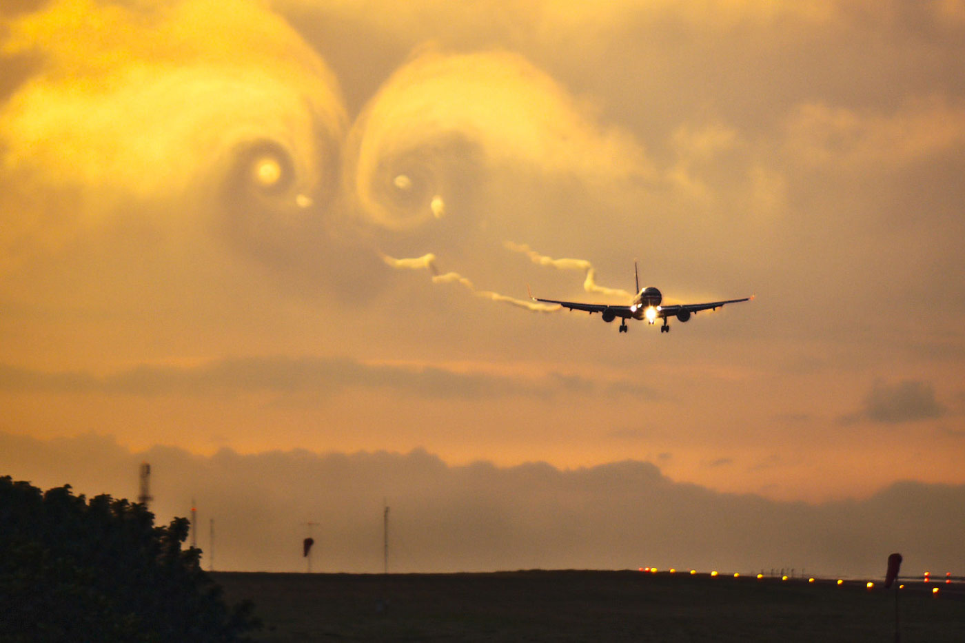 Wake Turbulence - Approaching 757